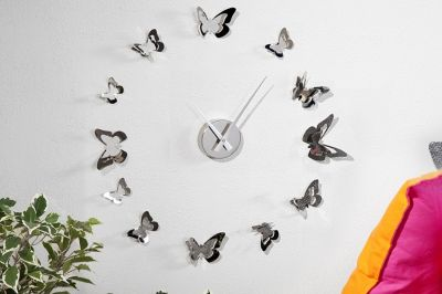 ZEGAR BUTTERFLY chrome 20792 0
